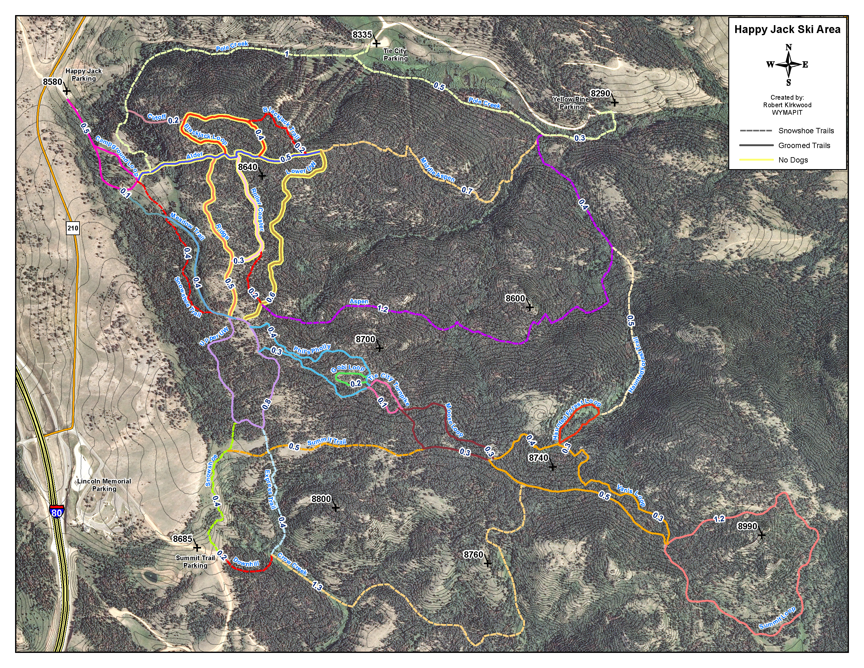 Ski Areas In Wyoming Map.Happy Jack Pole Mt Snow Conditions In Se Wyoming Laramie Wyoming